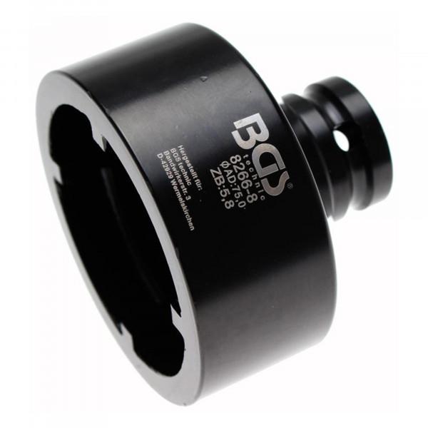 Nutmutter-Einsatz mit Innenzahn, 75x6.0 mm