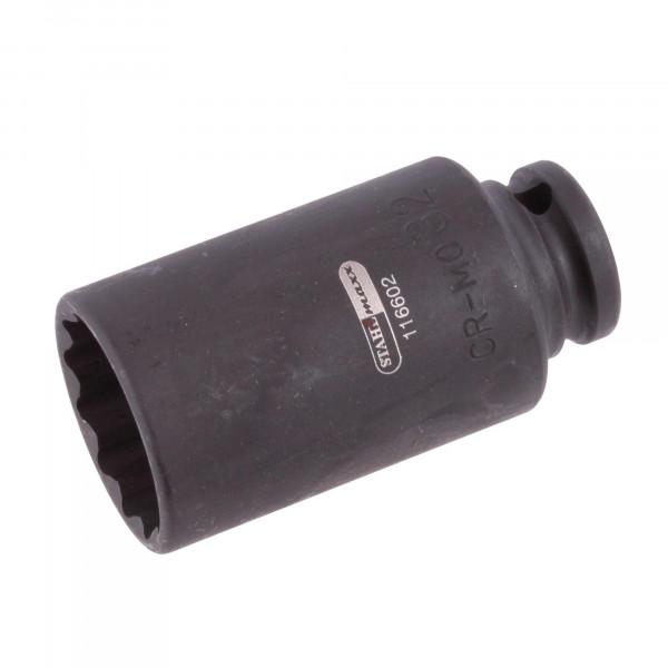 Kraft-Steckschlüssel-Einsatz, 12-kant, 32 mm, 1/2