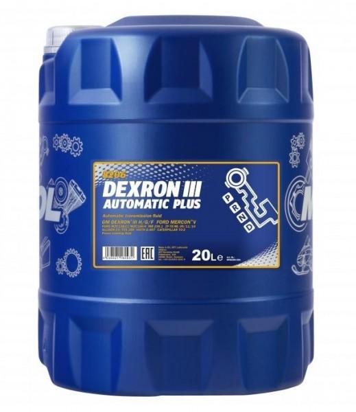 Getriebeöl Dexron III ATF MANNOL Automatic Plus Automatikgetriebe Öl Servoöl 20L