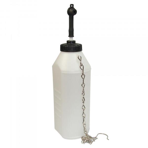 Auffangflasche für Bremsflüssigkeit, 1L mit Kettenhalterung
