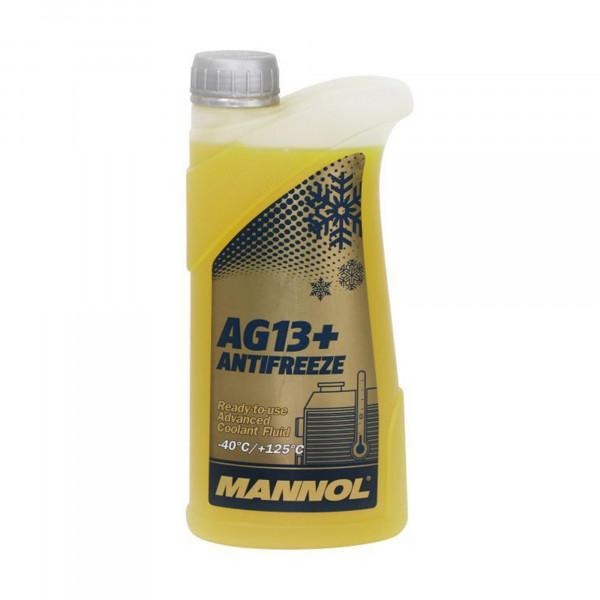 Kühlerfrostschutz gelb Mannol Advanced AG13+ Kühlmittel -40°C Frostschutz 1L