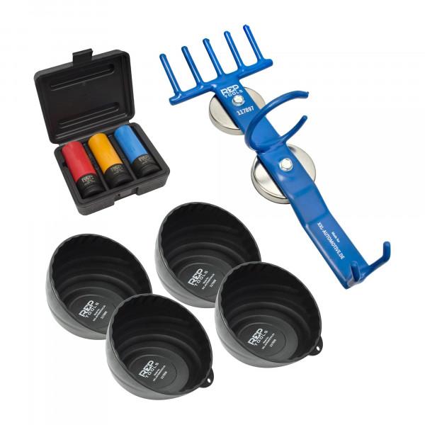 Einsätze für Radschrauben und Radmuttern, Magnethalter für Schlagschrauber, Magnetschale x 4 Stk