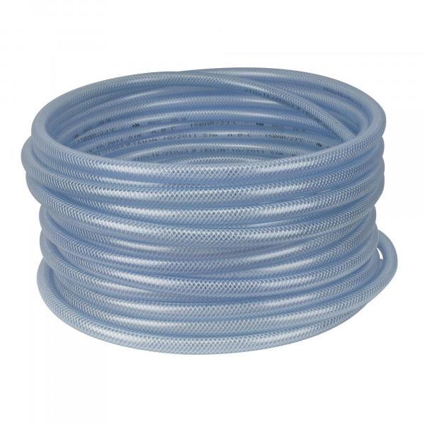 PVC Gewebeschlauch für Luft und Wasser, Innen-Ø 8mm, transparent
