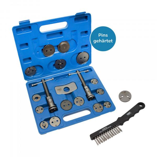 Bremskolbenrücksteller, 18-tlg. + 3-Pin-Adapter + Drahtbürste für Bremssattel