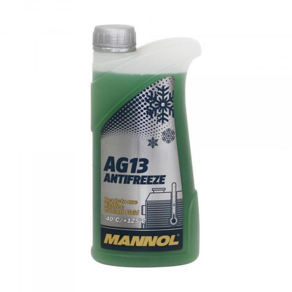 Kühlerfrostschutz grün Mannol Antifreeze Hightec AG13 bis Kühlmittel -40°C 1L