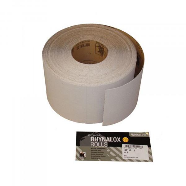 Indasa RHYNALOX White Line Schleifpapier Rolle 115X50M Körnung P80
