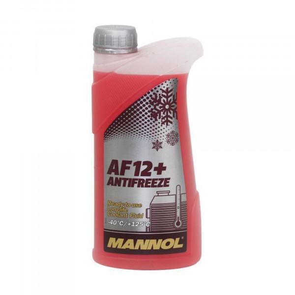 Kühlerfrostschutz Rot G12+ Mannol Antifreeze AF12+ -40°C Kühlmittel für VW Audi 1L