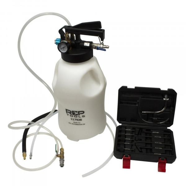 Druckluft-Ölabsaug / Ölbefüllgerät mit 13 Getriebeöl-Einfülladaptern