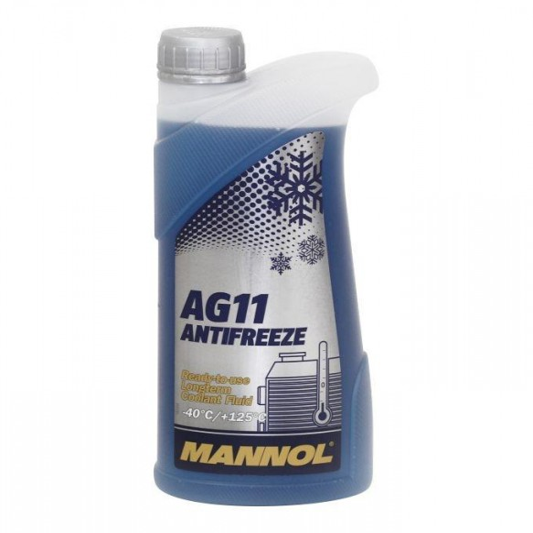 Kühlerfrostschutz blau Mannol Antifreeze AG11 Longterm Kühlmittel -40°C 1L