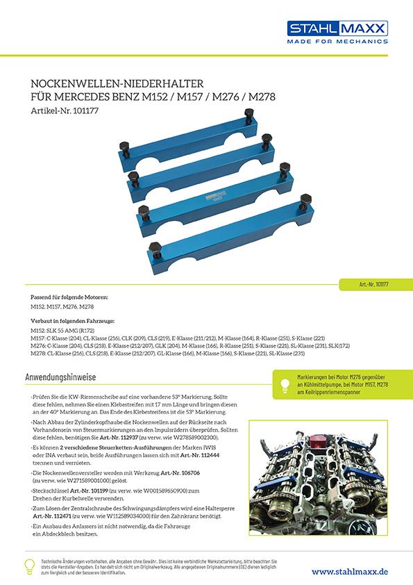 Informationen zu Mercedes Nockenwellen-Haltewerkzeug wie W276589004000