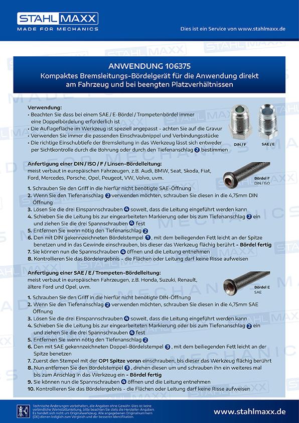 kompaktes bremsleitungs b rdelger t f r anwendung am. Black Bedroom Furniture Sets. Home Design Ideas