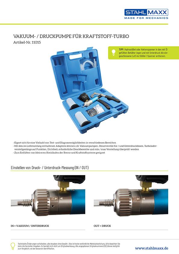 Vakuum-/Druckpumpe für Kraftstoff, Turbolader, Bremsanlage