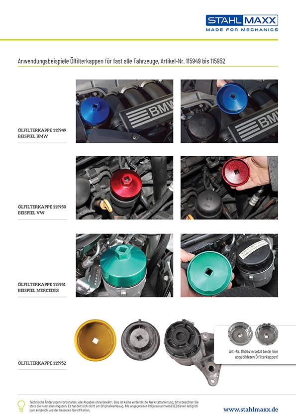 Ölfilterkappen Satz Ölfilterschlüßel MANN Kraftstofffilter für Audi BMW Opel VW