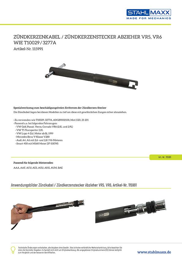 Zündkerzenkabel/-stecker Abzieher VR5, VR6, zu verw. wie T10029 / 3277A
