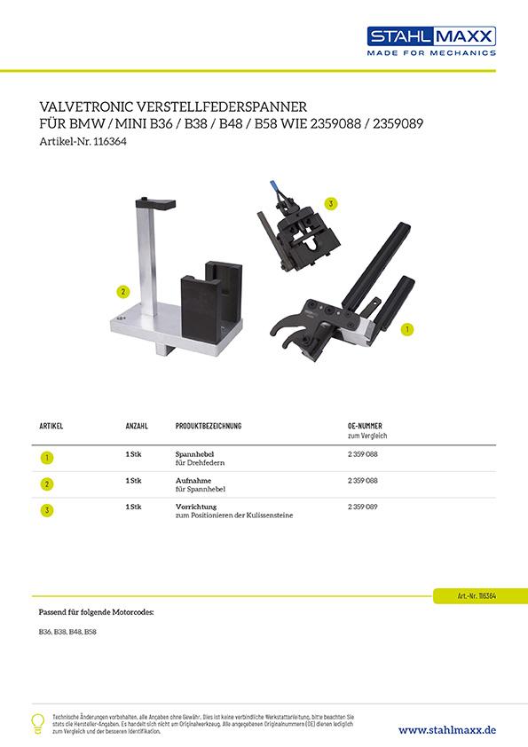 Valvetronic Verstellfederspanner für BMW / Mini B36, B38, B48, B58 zu verwenden wie BMW 2359088 und 2359089