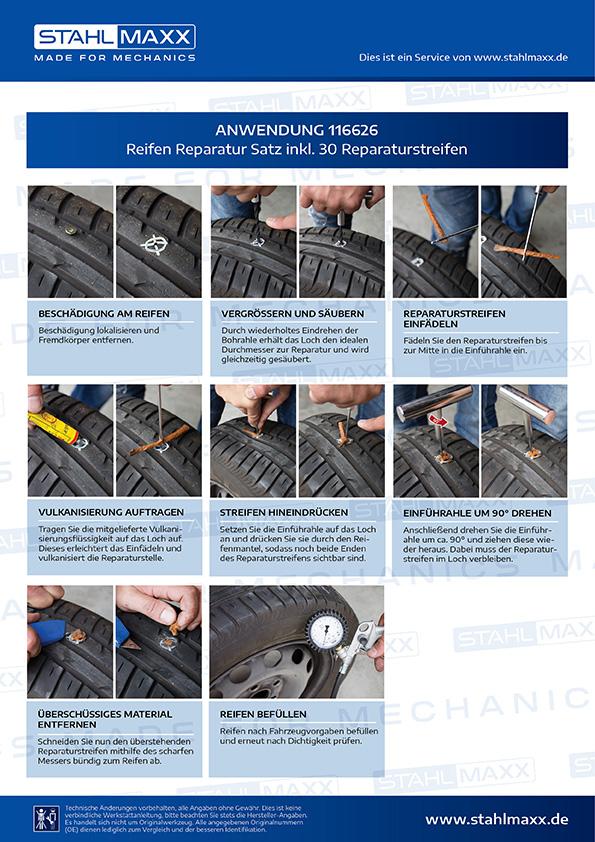 Anleitung zur Reifen Reparatur