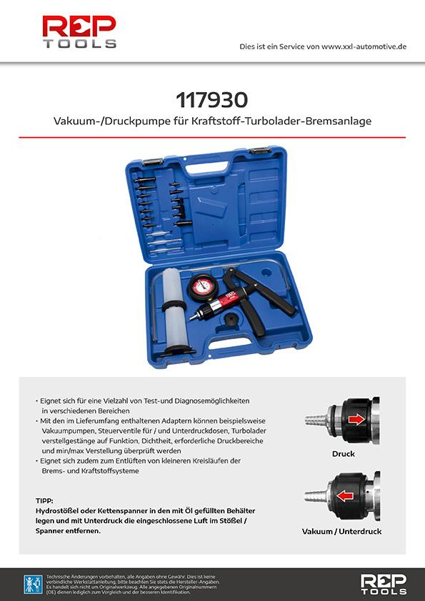 Vakuum-/Druckpumpe für Kraftstoff-Turbolader-Bremsanlage
