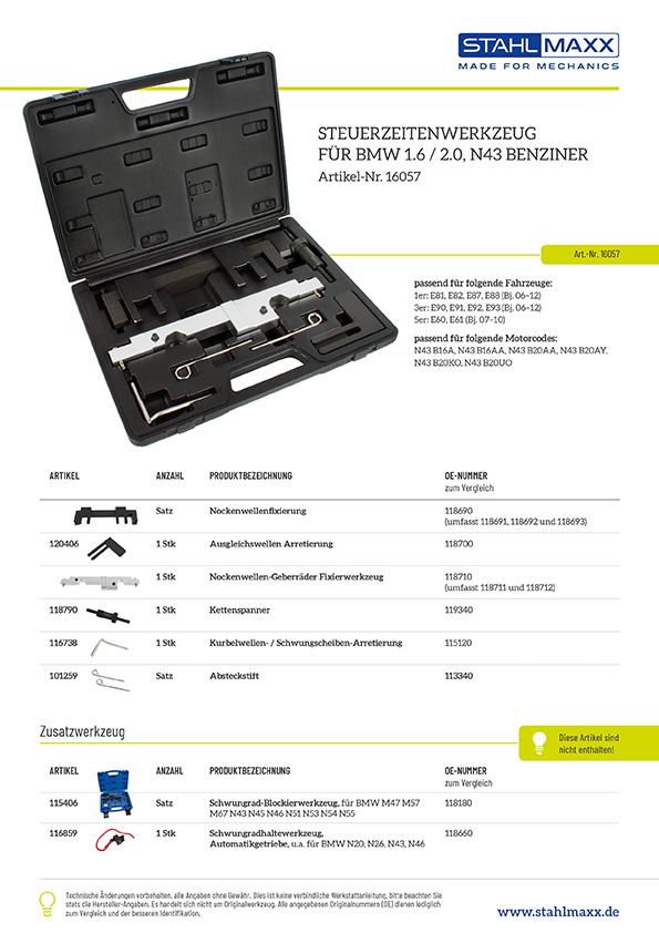 Steuerzeiten-Werkzeug BMW 1,6 und 2,0 N43