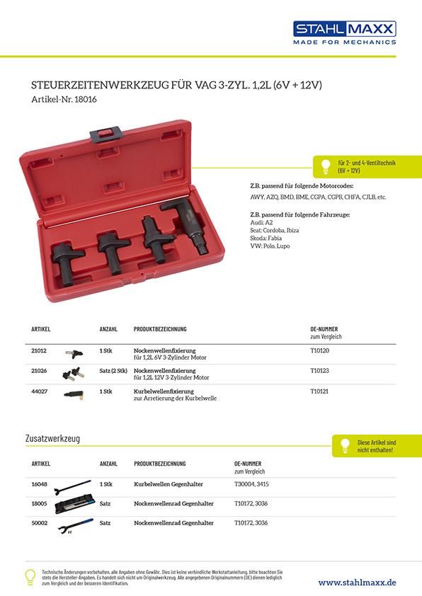 Zahnriemen Spezialwerkzeug VAG 3-Zylinder 1,2L