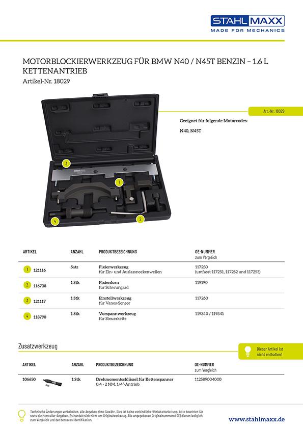 Steuerketten-Spezialwerkzeug BMW 1,6