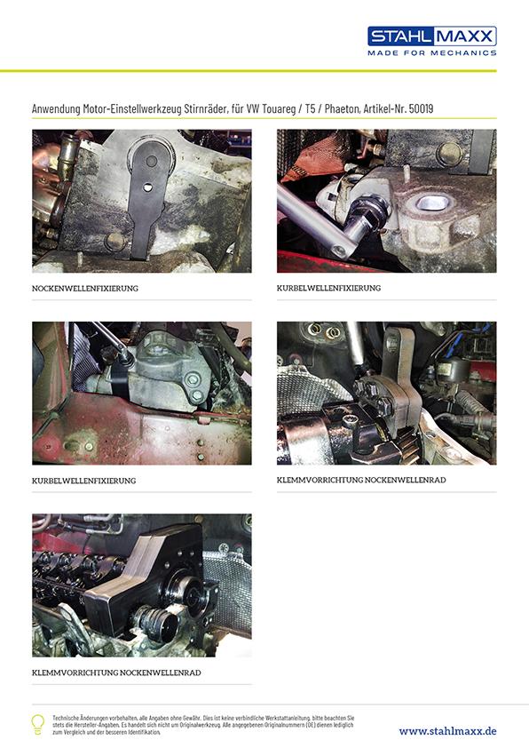 Anwendung T5 Touareg Phaeton Motor-Einstellwerkzeug Stirnräder wie T10193, T10194