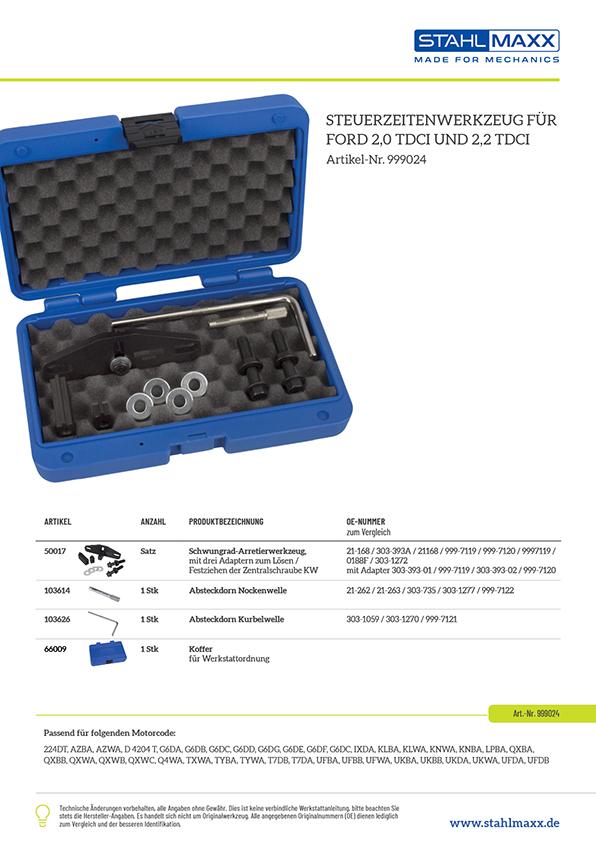 Motor Einstell Arretierwerkzeug Werkzeugsatz Ford 2.0 2.4 TDdi TDCi 2.2