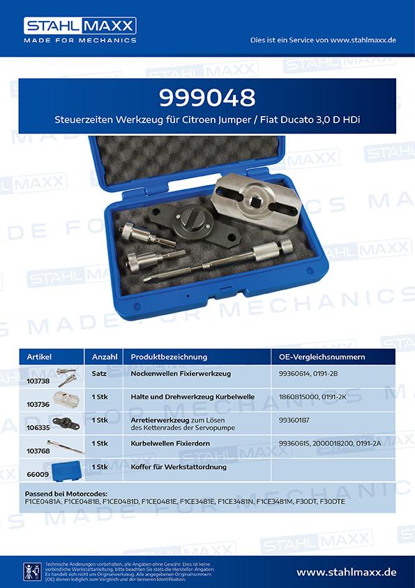 Steuerzeiten-Spezialwerkzeug Citroen Jumper, Fiat Ducato 3,0 D HDi