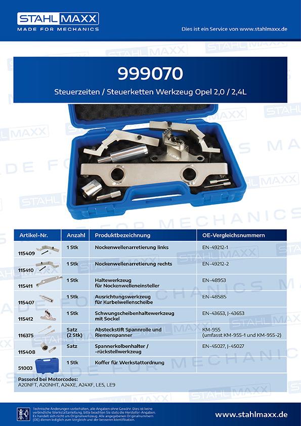 Einstellwerkzeug Steuerkette Werkzeug Arretierung Opel 1,0-1,2-1,4 L Motor Corsa