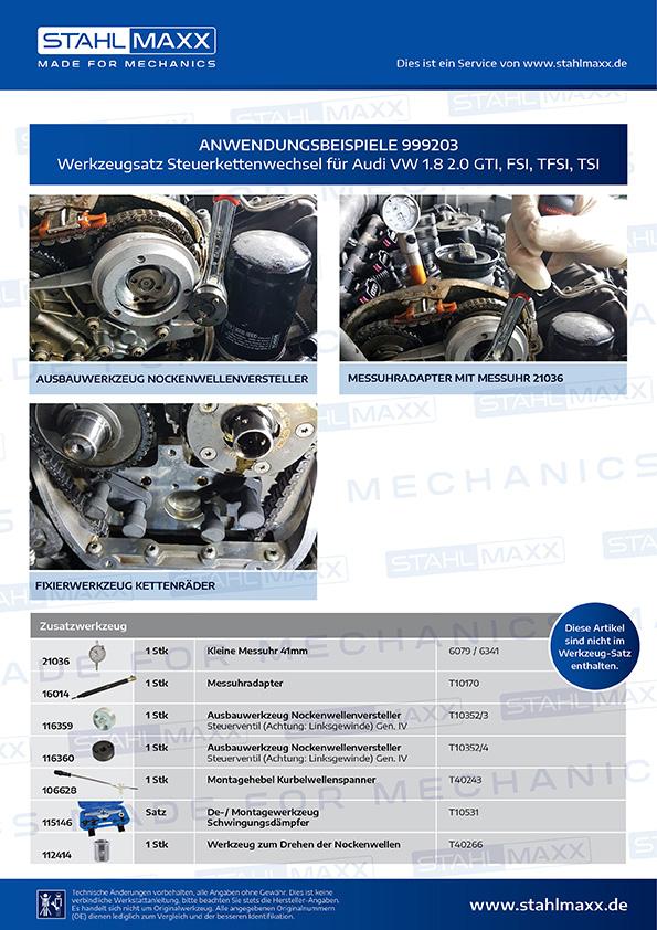 Nockenwellenversteller Werkzeug VW Audi T10352 T10352 //1 //2 1.8 2.0 TSI FSI TFSI