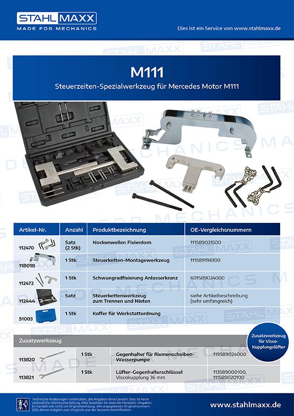 Steuerzeiten-Spezialwerkzeug Mercedes M111